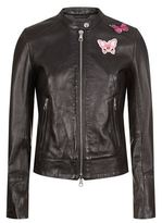 SET Embroidered Leather Jacket