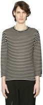 Yohji Yamamoto Striped Wool Jersey Long Sleeve T-Shirt