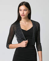 Le Château Metallic Knit Open-Front Shrug