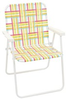 Webstrap Folding Beach Chair - Pink/Yellow/Blue