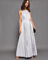 Ted Baker Metallic pleated maxi dress