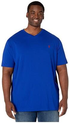 Polo Ralph Lauren Big & Tall Short Sleeve V-Neck T-Shirt (Watchhill Blue Heather) Men's Clothing