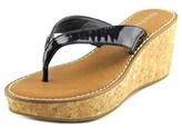 Rampage Daley Women Open Toe Synthetic Black Wedge Sandal.
