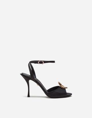 Dolce & Gabbana Moire Devotion Sandals