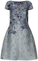St. John Metallic A-Line Dress