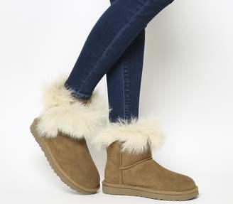 UGG Milla Fur Cuff Boots Chestnut Suede