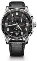 Victorinox Men's Chronograph Class XLS Black Leather Strap Watch, 45mm