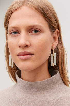 Cos MARBLE-EFFECT LINK EARRINGS