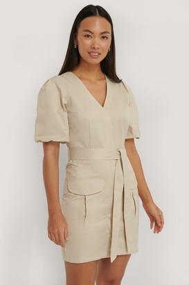 Sara Sieppi X NA-KD Puff Sleeve Pocket Dress