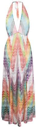 Missoni Mare Sheer Zigzag Embroidery Cover Up Dress