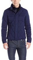 Scotch & Soda Men's Light Padded Quilted Jacket with Inner Rib Knit Collar