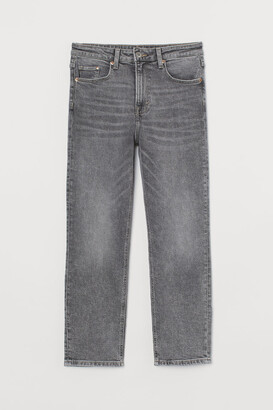 H&M Vintage Slim High Ankle Jeans - Gray
