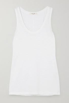 Rag & Bone Slub Stretch-pima Cotton-jersey Tank - White