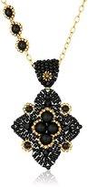 Miguel Ases Black Onyx Diamond Pendant Necklace