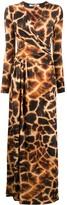 Roberto Cavalli giraffe-print long dress