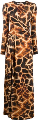 Roberto Cavalli Giraffe-Print Long Dress