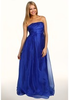Jessica Simpson Crisscross Bodice Strapless Gown