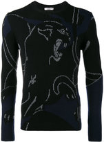 Valentino panther intarsia jumper - men - Virgin Wool - S
