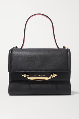 Alexander McQueen The Story Small Two-tone Leather Tote - Black