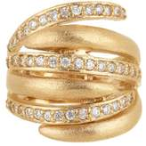 Rivka Friedman 18K Gold Clad Interlocking CZ Satin Ring