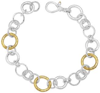 Gurhan Hoopla Mix Link Silver Bracelet