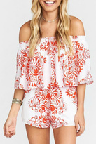 Show Me Your Mumu Red And White Romper