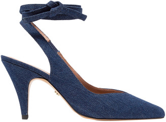 ALEXACHUNG Denim Slingback Pumps