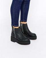 Asos ACHEM Chunky Zip Boots