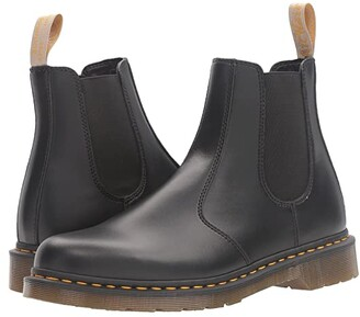 Dr. Martens 2976 Vegan Chelsea Boot (Black Felix Rub Off) Lace-up Boots