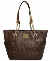 Calvin Klein Women's Monogram Tote Handbag Purse Bag