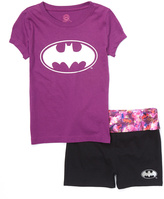 Intimo Purple Batgirl Yoga Pajama Set - Girls