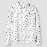 Girls' Button Down Shirt Cat & Jack - White