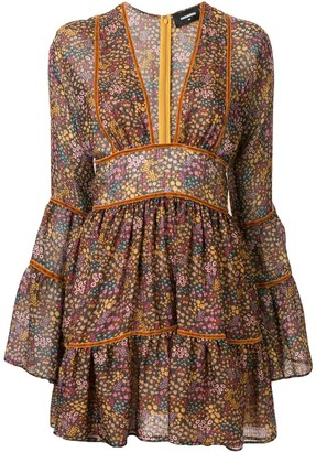 DSQUARED2 Floral-Print Flared Short Dress