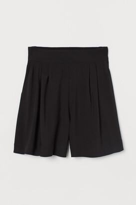 H&M Shorts High Waist - Black