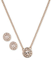Givenchy Pave Pendant Necklace and Stud Earrings Set