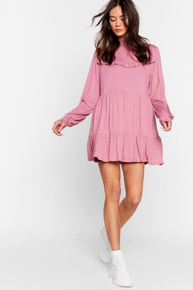 Nasty Gal Womens Tier Comes Another Day Ruffle Mini Dress - Rose
