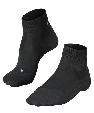 Falke Women RU4 Light Short Running Socks - Sports Performance Fabric White (Black-Mix 3010) Size: US 8-9 (EU 39-40 UK 5.5-6.5) 1 Pair