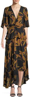 A.L.C. Avi Floral-Print Silk Maxi Dress