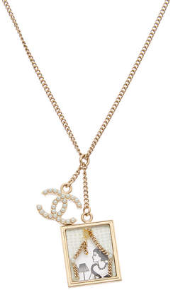 Chanel Gold-Tone Coco Window Necklace