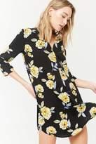 Forever 21 Floral Split-Neck Dress