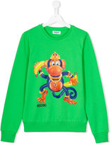 Moschino Kids - monkey sweatshirt - kids - Cotton/Spandex/Elastane - 14 yrs