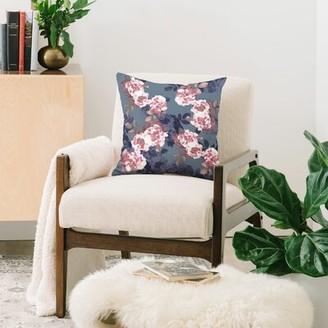 "East Urban Home Emanuela Carratoni Indoor/Outdoor Floral Throw Pillow Size: 20"" x 20"""