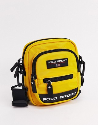 Polo Ralph Lauren sport flight bag in yellow