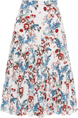 Erdem Gaura Printed Cotton-Poplin Maxi Skirt