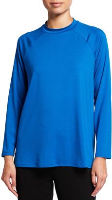 Eileen Fisher Plus Size Long-Sleeve Fine Jersey Crewneck Tunic
