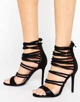 Forever Unique Maple Strappy Heeled Sandal