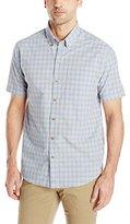 Cutter & Buck Men's Short Sleeve Sail Check Shirt