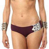 O'Neill Solids Crochet Hipster Bikini Bottom - Women's Bordeaux S