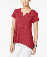 Style&Co. Style & Co Ribbed High-Low T-Shirt, Only at Macy's