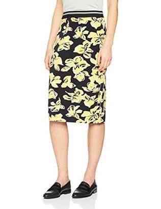 Gerry Weber Women's 110011-382 Skirt, Multicolour (Schwarz/Sand/Gelb Druck 1121), (Size: 42)